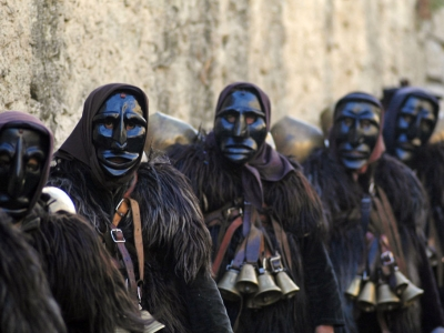 Mysterious carnival masks in the heart of Sardinia